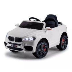 Детский электромобиль BMW X5 Style 12V - HL-1538 белый (колеса резина, сиденье кожа, пульт, музыка)